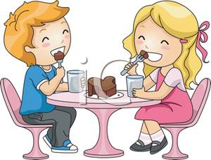 A_cute_blond_boy_and_girl_on_a_date_eating_a_piece_chocolate_cake_120110-023292-766009