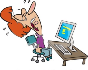 5765-woman-screaming-and-crying-in-frustration-while-getting-computer-errors-clipart-illustration