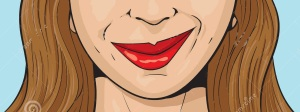 smirking-girl-illustration-smiling-43576960