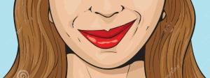 smirking-girl-illustration-smiling-43576960